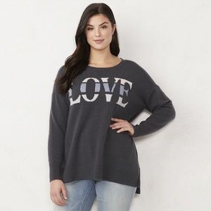 LC Lauren Conrad Oversized Love Sweater